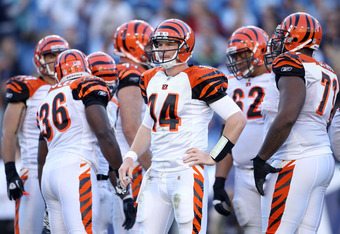The Bengals are winning with rookie QB Andy Dalton.