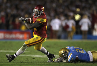 UCLA CB Aaron Hester could not stop USC in 2010