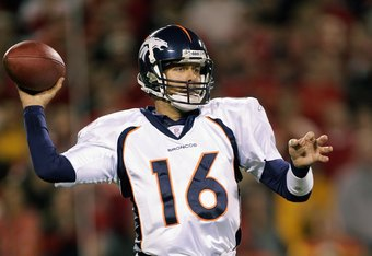 November 23, 2006: Jake Plummer and Denver vs. Kansas City.