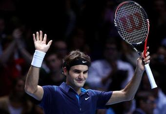 A victorious Federer kept his emotions in check