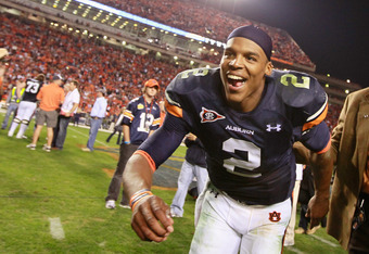 AUBURN, AL - NOVEMBER 13:  Quarterback Cam Newton #2 of the Auburn Tigers against the Georgia Bulldogs at Jordan-Hare Stadium on November 13, 2010 in Auburn, Alabama.  (Photo by Kevin C. Cox/Getty Images)