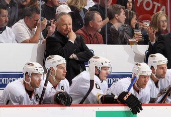 Randy Carlyle is a former Norris Trophy-winning defenseman, capturing the award in 1981 with the Pittsburgh Penguins. His hard-nosed, gritty style has become characteristic of the Anaheim Ducks team that once again is amongst the league leaders in penalty minutes.