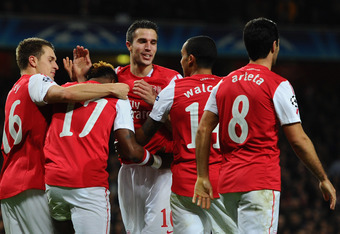 Arsenal became the first English team to progress to the next round.