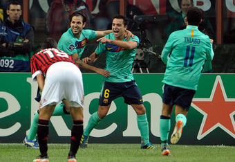 Xavi was outstanding as the standout player in the thriller in San siro