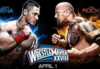 John Cena vs The Rock at Wrestlemania XXVIII