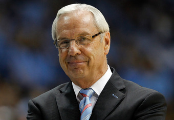 CHAPEL HILL, NC - NOVEMBER 22:  Head coach Roy Williams of the North Carolina Tar Heels smiles during their game against the Tennessee State Tigers at Dean Smith Center on November 22, 2011 in Chapel Hill, North Carolina.  (Photo by Streeter Lecka/Getty I
