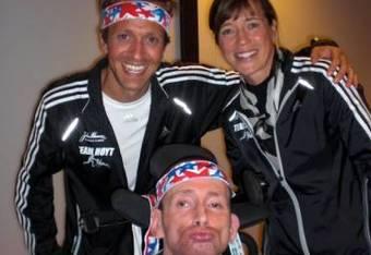 Hanrahan, Uta and Stylin' Rick Hoyt at last years Team Hoyt banquet
