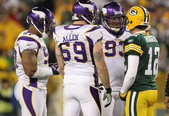 Jared Allen:  Make a break for the state line, buddy!