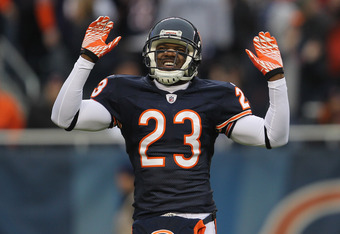 CHICAGO, IL - NOVEMBER 20:  Devin Hester #23 of the Chicago Bears fires up the crowd during a game against the San Diego Chargers at Soldier Field on November 20, 2011 in Chicago, Illinois. The Bears defeated the Chargers 31-20.  (Photo by Jonathan Daniel
