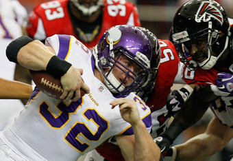 Toby Gerhart came up short on a critical fourth down.