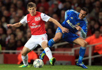 Arshavin was unimpressive in the 1-1 draw between Arsenal and Fulham