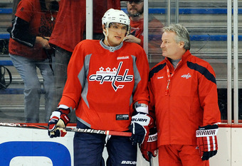 The declining performance of the Caps' stars, such as Alex Ovechkin, played a large role in George McPhee's decision to replace Bruce Boudreau