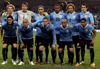 Against Slovenia, Klinsmann's 4-4-2 seemed a lot like Uruguay's 4-3-3, with three defensive mids.
