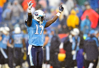 Damian Williams celebrates after his game winning touchdown