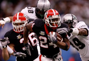 The 2007 Georgia Bulldogs finished number two in the country.
