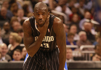 ORLANDO, FL - FEBRUARY 03:  Guard Jason Richardson #23 of the Orlando Magic reacts during a game against the Miami Heat at Amway Arena on February 3, 2011 in Orlando, Florida. NOTE TO USER: User expressly acknowledges and agrees that, by downloading and/o