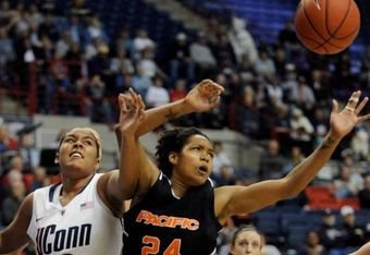 Pacific Gena Johnson is maturing into a leader Photo by UConn PR Dept