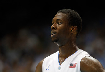 CHAPEL HILL, NC - NOVEMBER 22:  Harrison Barnes #40 of the North Carolina Tar Heels drives to the basket against the Tennessee State Tigers during their game at Dean Smith Center on November 22, 2011 in Chapel Hill, North Carolina.  (Photo by Streeter Lec