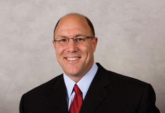 KANSAS CITY, MO - CIRCA 2011: In this handout image provided by the NFL, Scott Pioli of the Kansas City Chiefs poses for his NFL headshot circa 2011 in Kansas City, Missouri. (Photo by NFL via Getty Images)