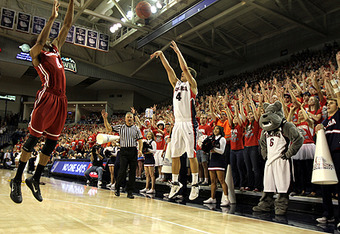 Gonzaga Freshman Kevin Pangos hit a school record nine 3-pointers in this game against Washington State earlier this season