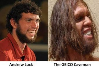 Andrew Luck & The GEICO Caveman: Separated At Birth?