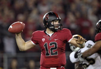 Andrew Luck of Stanford against Notre Dame