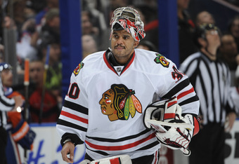 Aside from a clunker in Edmonton, Emery has given the Blackhawks a chance to win most nights.