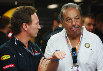Carlos Slim with Christian Horner in 2009