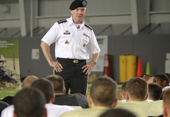 General Dempsey at West Point practice (USMA)