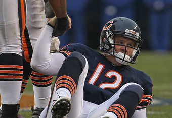 Caleb Hanie is 0-2 in his starts with Chicago and failed to throw for a touchdown Sunday against the Chiefs