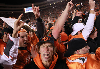Oklahoma State fans are shouting hypocrisy.