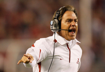 NIck Saban, Alabama head coach
