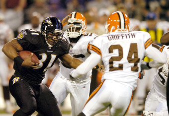 Jamal Lewis had great days Vs. Browns