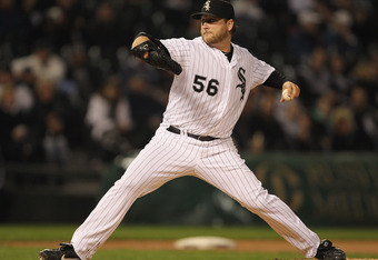 CHICAGO, IL - SEPTEMBER 27:  Starting pitcher Mark Buehrle #56 of the Chicago White Sox delivers the ball against the Toronto Blue Jays at U.S. Cellular Field on September 27, 2011 in Chicago, Illinois.  (Photo by Jonathan Daniel/Getty Images)