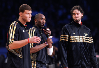 Blake Griffin and two dudes from the Lakers.