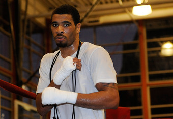 WASHINGTON, DC - DECEMBER 06:  Anthony Peterson works out for the media at the Kennedy Recreation Center on December 6, 2011 in Washington, DC.  (Photo by Patrick McDermott/Getty Images)