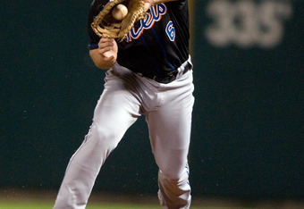 Evans in action for the Mets in 2011