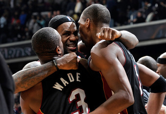 The Big Three (Dwyane Wade, LeBron James, Chris Bosh) were targeted with hateful comments throught the season with James getting the bulk of it.