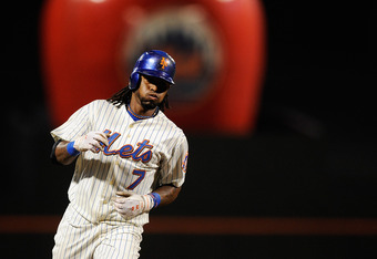 NEW YORK, NY - SEPTEMBER 27:  Jose Reyes #7 of the New York Mets rounds the bases after hitting a solo home run in the third inning of a game against the Cincinnati Reds at Citi Field on September 27, 2011 in the Flushing neighborhood of the Queens boroug