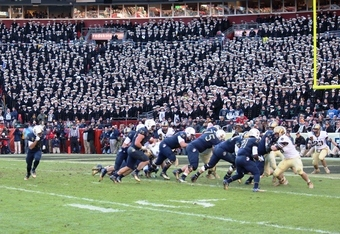 Navy at Army Goal Line in First Quarter (K. Kraetzer)