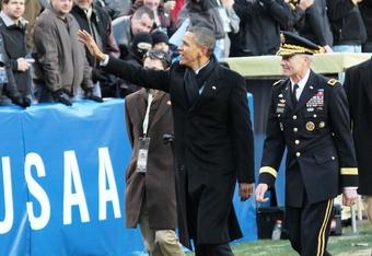 President Obama Waves to Cadets (K.Kraetzer)