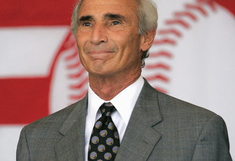 COOPERSTOWN, NY - JULY 31: Hall of Famer Sandy Koufax attends the Baseball Hall of Fame Induction ceremony on July 31, 2005 at the Clark Sports Complex in Cooperstown, New York.  (Photo by Ezra Shaw/Getty Images)