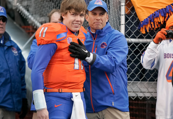 In this playoff format, Kellen Moore and Boise State would be the last team in
