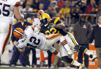 James Harrison's collision with Colt McCoy last Thursday night