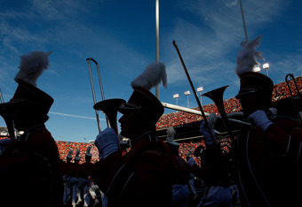 AUBURN, AL - NOVEMBER 26:  The Auburn Tigers marching band enters the field prior to the game against the Alabama Crimson Tide at Jordan-Hare Stadium on November 26, 2011 in Auburn, Alabama.  (Photo by Kevin C. Cox/Getty Images)