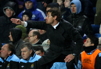 LONDON, ENGLAND - DECEMBER 12:  Andre Villas-Boas the Chelsea manager reacts during the Barclays Premier League match between Chelsea and Manchester City at Stamford Bridge on December 12, 2011 in London, England.  (Photo by Julian Finney/Getty Images)