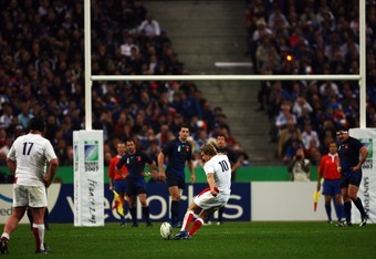 Wilkinson vs France at the 2007 Rugby World Cup.