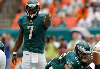 Vick appeared in control for about ten minutes on Sunday.