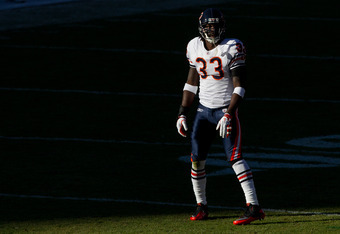 DENVER, CO - DECEMBER 11:  Cornerback Charles Tillman #33 of the Chicago Bears prepares for a play against the Denver Broncos at Sports Authority Field at Mile High on December 11, 2011 in Denver, Colorado. (Photo by Justin Edmonds/Getty Images)