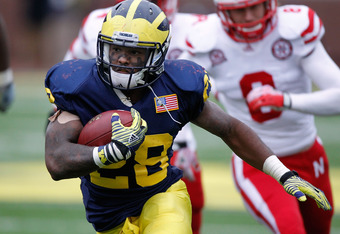 Fitzgerald Toussaint's hot streak at the end of the season allows the Wolverines some leeway at the running back position for the 2012 recruiting class.
